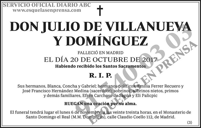 Julio de Villanueva y Domínquez